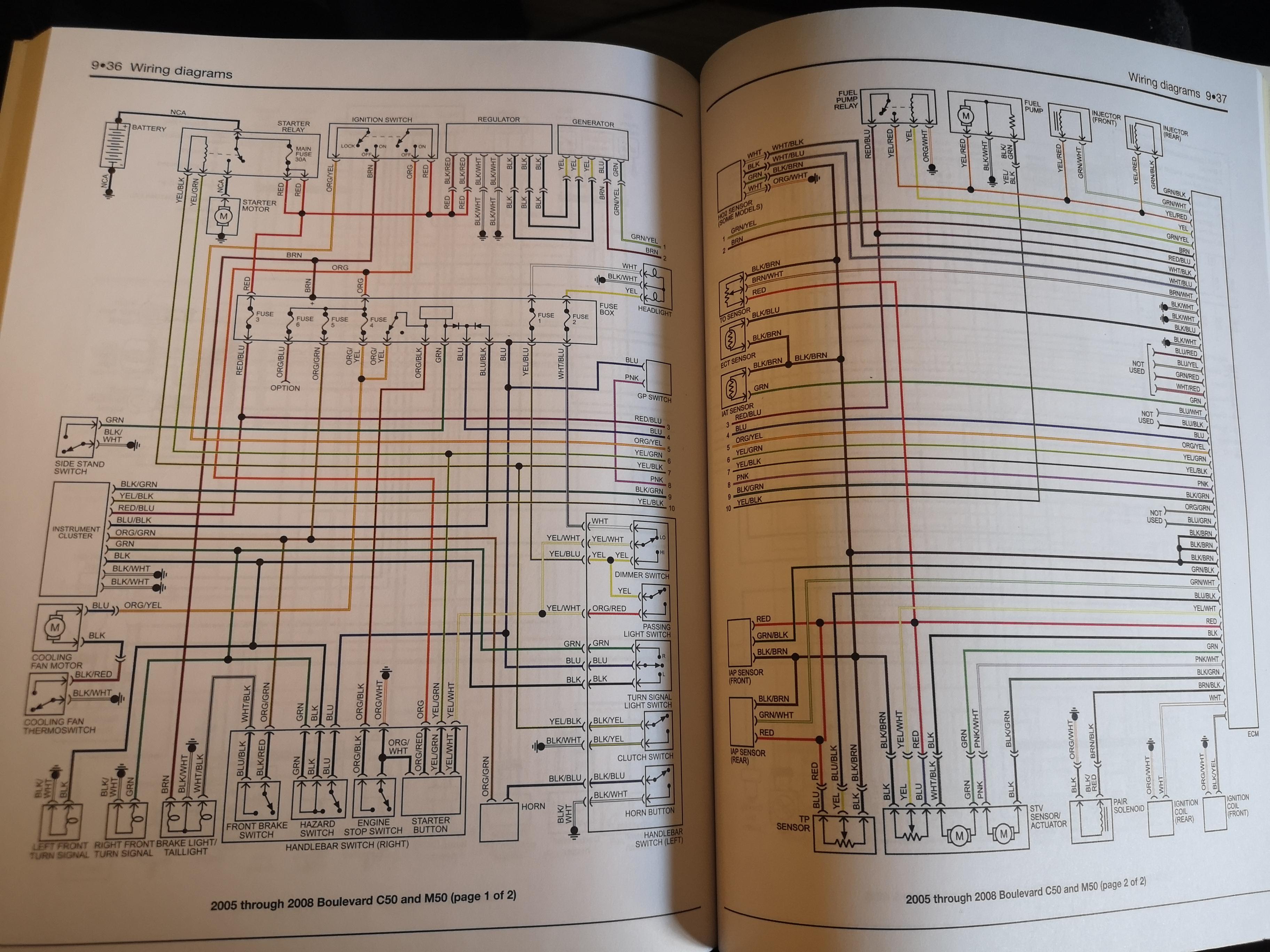 2005 suzuki boulevard c50 wiring diagram (colored) | Suzuki Volusia ForumSuzuki Volusia Forum
