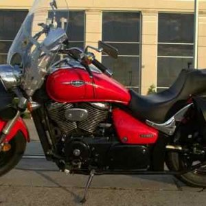 My 1st real bike, after learning to ride on a Honda Rebel 250.  This bike looked so big, after my little Rebel, I named her Big Red!