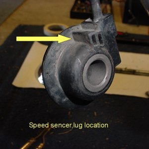 Speed-o sencer locating lug