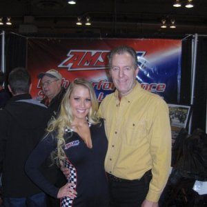 This is me working the Amsoil booth!!!